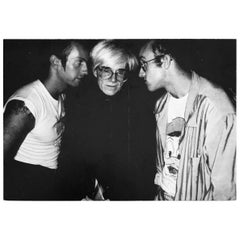 Patrick Mcmullan Announcement Keith Haring, Kenny Scharf, Andy Warhol