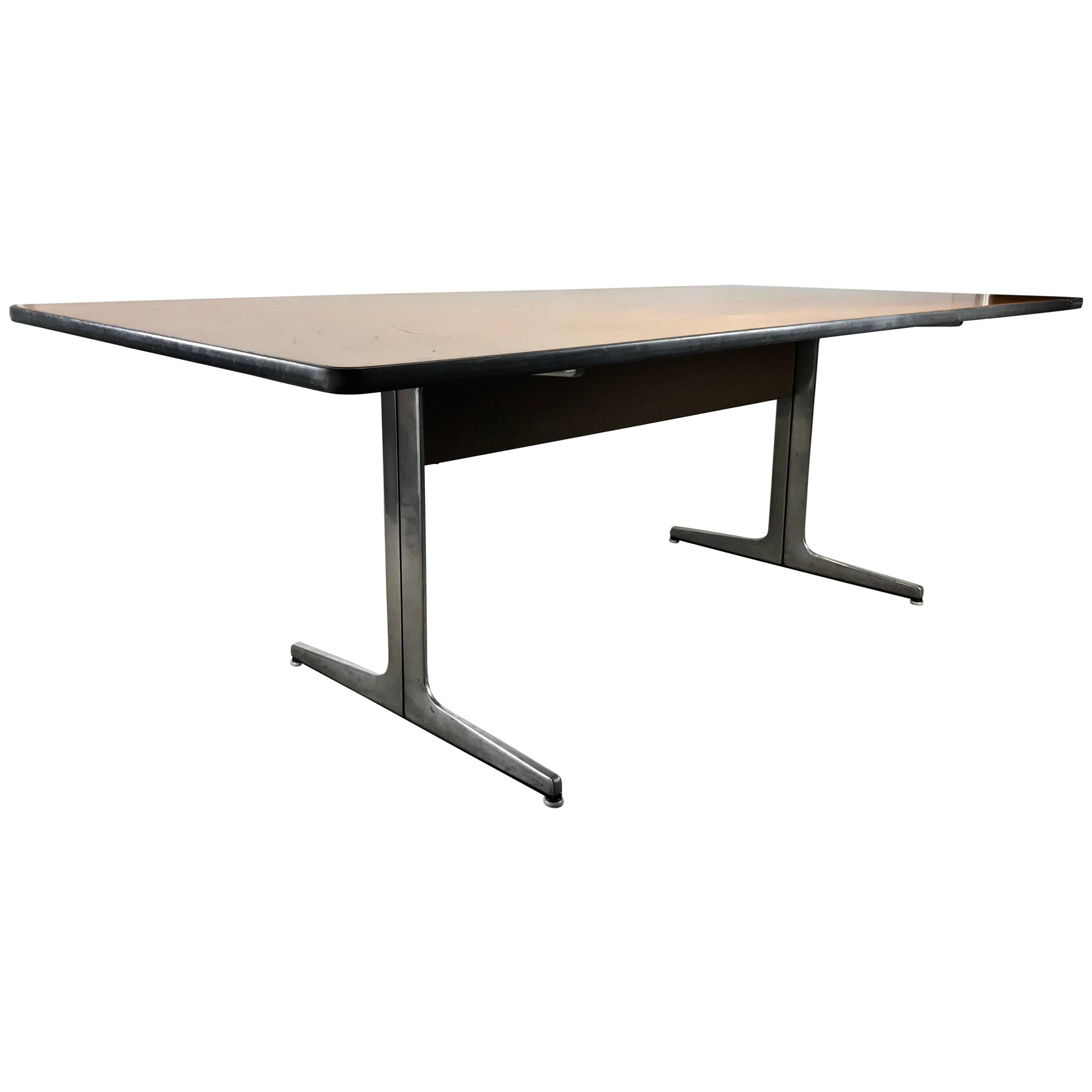 Elusive Modernist Action Office Desk or Table by George Nelson for Herman Miller