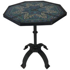 Stunning Persian Tile and Iron Stand or Table
