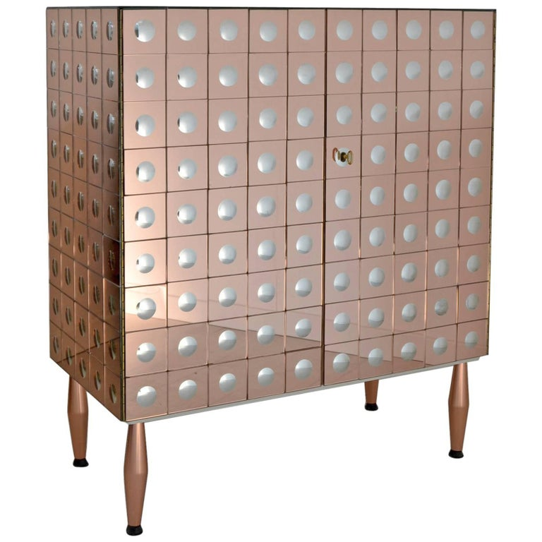 Bolle Cabinet, Limited Edition by Effetto Vetro, Handmade in Italy