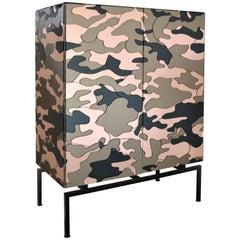 Camouflage Cabinet, Unique Piece by Effetto Vetro