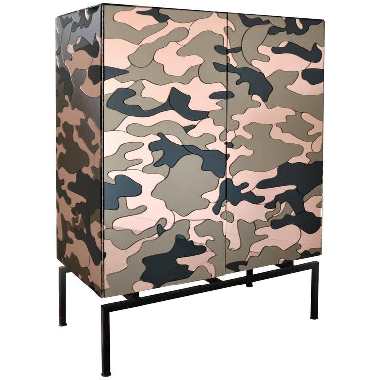Camouflage Cabinet, Unique Piece by Effetto Vetro For Sale