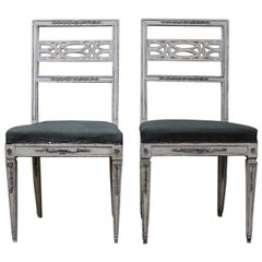 Fine Pair of Early C19th Neoclassical Painted Chairs