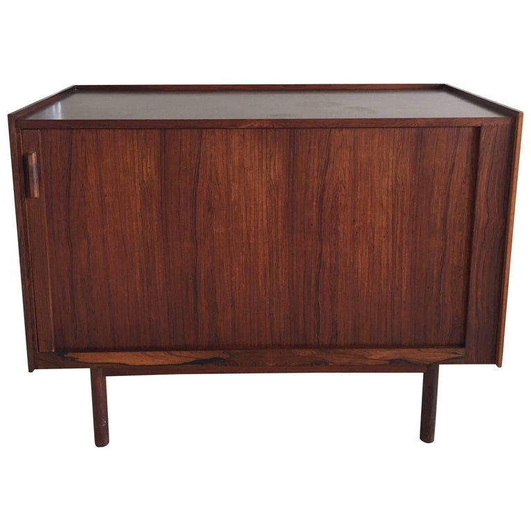 Midcentury Rosewood Bar/Sideboard in the Style of Arne Vodder For Sale