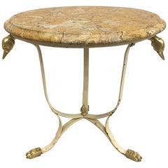 Dreamy Creamy Maison Jansen Style Side Table