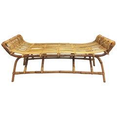 Wonderfully Shaped Rattan Bench