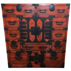 19th Century Japanese Lacquered Tansu