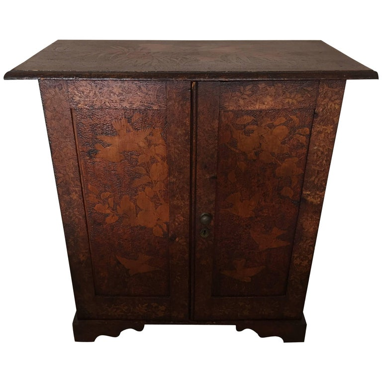19th Century Arts & Crafts Poker Cabinet For Sale