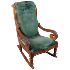19th Century French Mahogany Rocking Chair