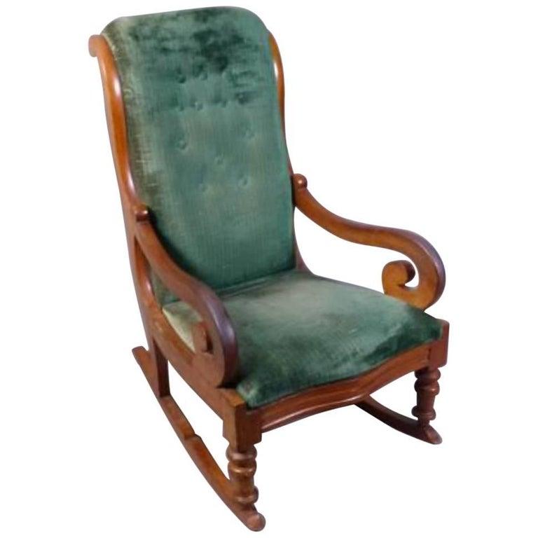 19th Century Mahogany Rocking Chair