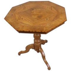 19th Century French Octagonal Marquetry Table