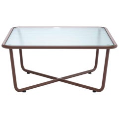 Roda Sunglass 001 Coffee Table for Outdoors in Glass and Powder Coated Aluminium