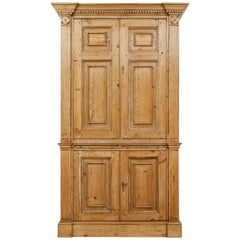 Architectural early 19th century converted pine cabinet