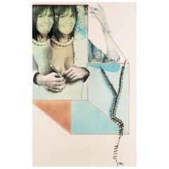 Pop Art Pol Mara Mix-Media on Paper, 1974