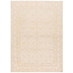 21st Century  Cream/Ivory Persian Tabriz Style Rug, 8.11x12.02