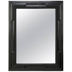 Dutch Ebonized Ripple Frame Mirror