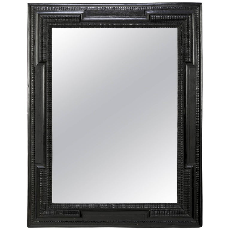 Dutch Ebonized Ripple Frame Mirror