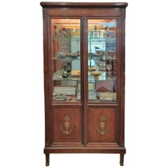 19th Century French mahogany vitrin