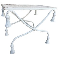 Neoclassical Iron Stool