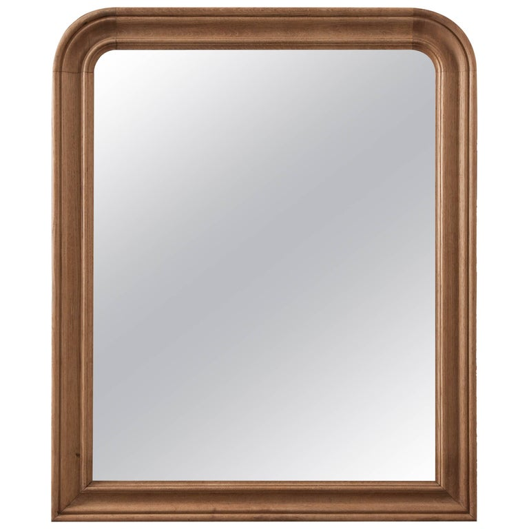 French 19th Century Bleached Oak Louis Philippe Mirror