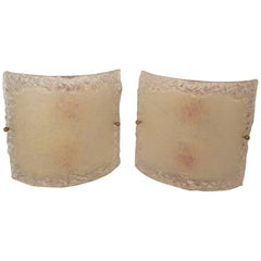 Vintage Murano Style Glass Wall Sconces