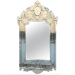 19th Large Antique Venetian Mirror