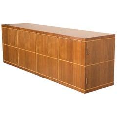 Tommi Parzinger Design Four-Section Walnut Credenza