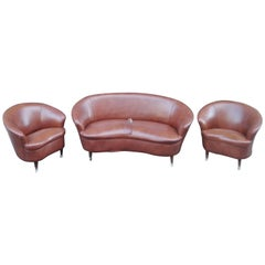 Sofa and Armchairs by Gio Ponti, Italia, First Half of the 20th Century