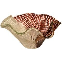 Bowl in Artistic Blown Glass of Murano, Designed by Dino Martens, circa 1950