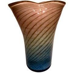 Vase in Artistic Blown Glass of Murano, Designed by Dino Martens, circa 1950