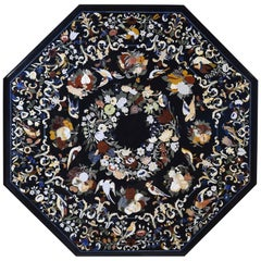 "Octagonal ""Pietra Dura"" Tabletop, Marble and Hardstones, 20th Century"