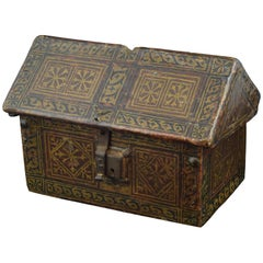 Gothic Chest, Spain, Late 15th Century, Polychromed Wood