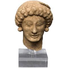 Ancient Greek Terracotta Female Head