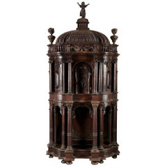 Architectural Tabernacle, Oak Wood, Spain, 17th Century