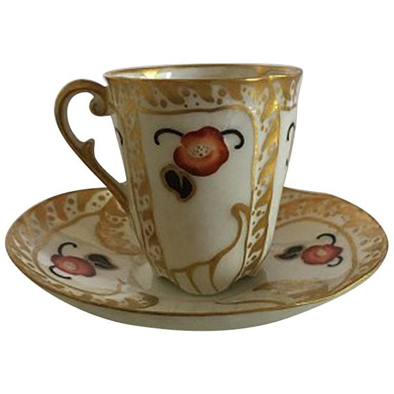 Bing & Grondahl Hand-Painted Cup and Saucer