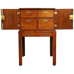 Antique George II Padouk and Walnut Cabinet on Stand, circa 1740