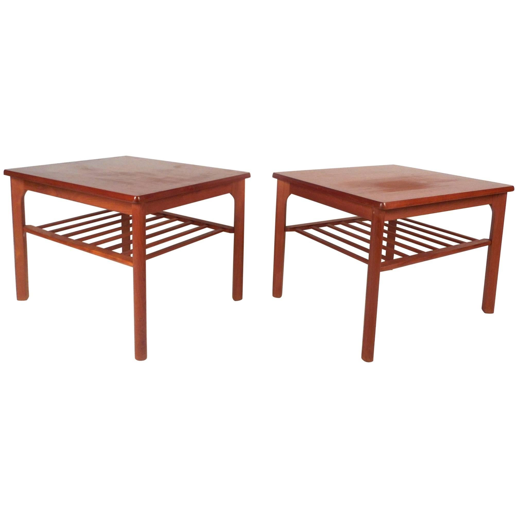 Pair of Mid-Century Modern Danish Teak End Tables by Mobelfabrikken Toften