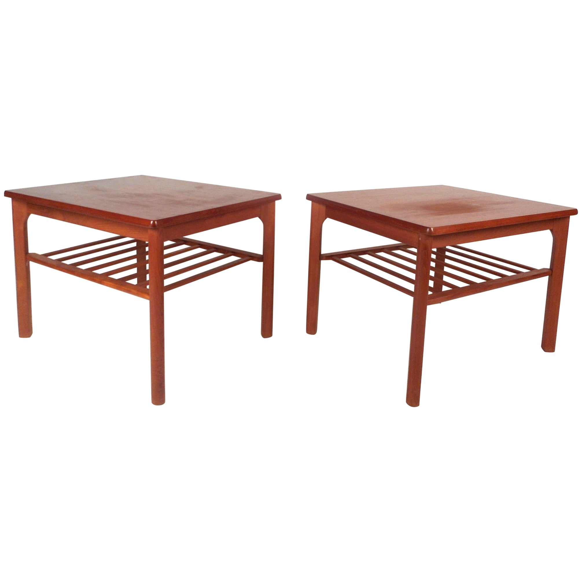 Pair of Mid-Century Modern Danish Teak End Tables by Mobelfabrikken Toften