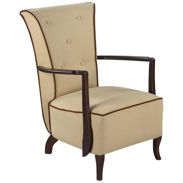 French Art Deco Armchair, 1940s