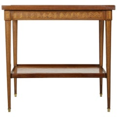 Early 20th Century French Louis XVI Walnut and Mahogany Marquetry Table