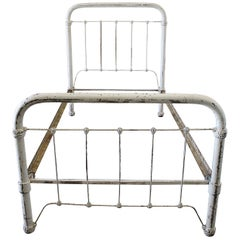 Antique Wrought Iron Twin Size Bed