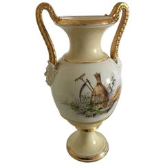 Bing & Grondahl Early Vase with Overglaze Decoration and Roman/Greek Bisque Head