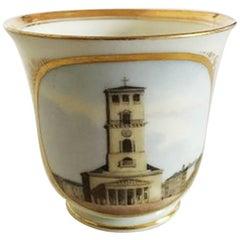 Bing & Grondahl Early Cup with Motif of Vor Frue Kirke 'Copenhagen Cathedral'
