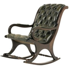 English Leather Rocking Chair
