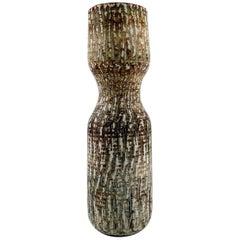 Gunnar Nylund, Rorstrand. Large ceramic vase, beautiful birch wood glaze