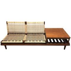 Hans Olsen Single Sofa with Side Table for Bramin