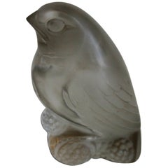 Rene Lalique Art Deco Belacourt-  Bird Paperweight