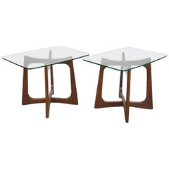 Pair of Adrian Pearsall for Craft Associates Walnut Side Tables