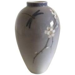 Royal Copenhagen Art Nouveau Vase with Dragonfly #2301/47B