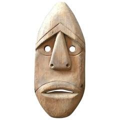 Hand-Carved Wooden Native American or Eskimo 'Alutiiq/ Sugpiag' Mask